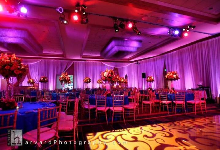 Wedding Decor: Pink, Purple, Orange, Blue Lighting 1